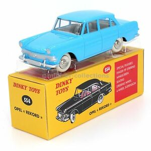 Atlas Dinky Toys 554 Opel Rekord bleue - France - État : Occasion: Objet ayant été utilisé. Consulter la description du vendeur pour avoir plus de détails sur les éventuelles imperfections. ... Couleur: Bleu Marque du véhicule: Opel Marque: Atlas Dinky Toys Numéro de pice fabricant: 61 U - France