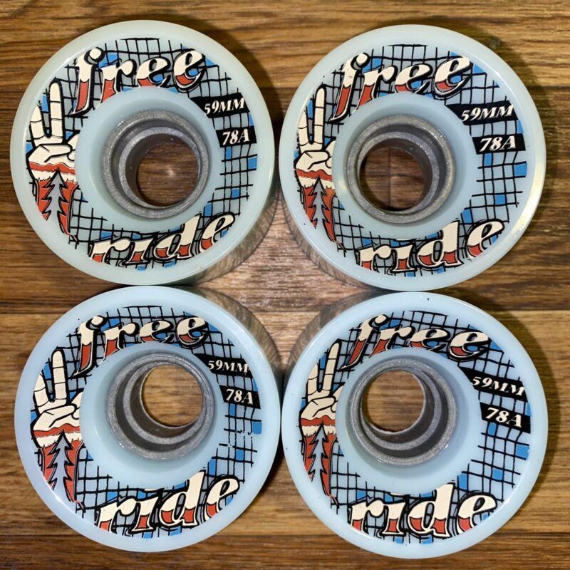 Free Ride Sector 9 Peace Longboard/Cruiser Skateboard Wheels 59MM 78A