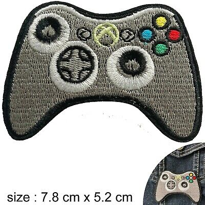 Computer Games - video game controller Iron on patch console computer games box iron-on patches