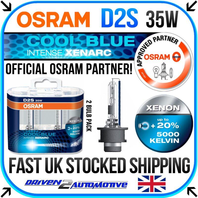 2 x OSRAM D2S COOL BLUE INTENSE XENARC HID XENON BULB 5000K +20% Brighter
