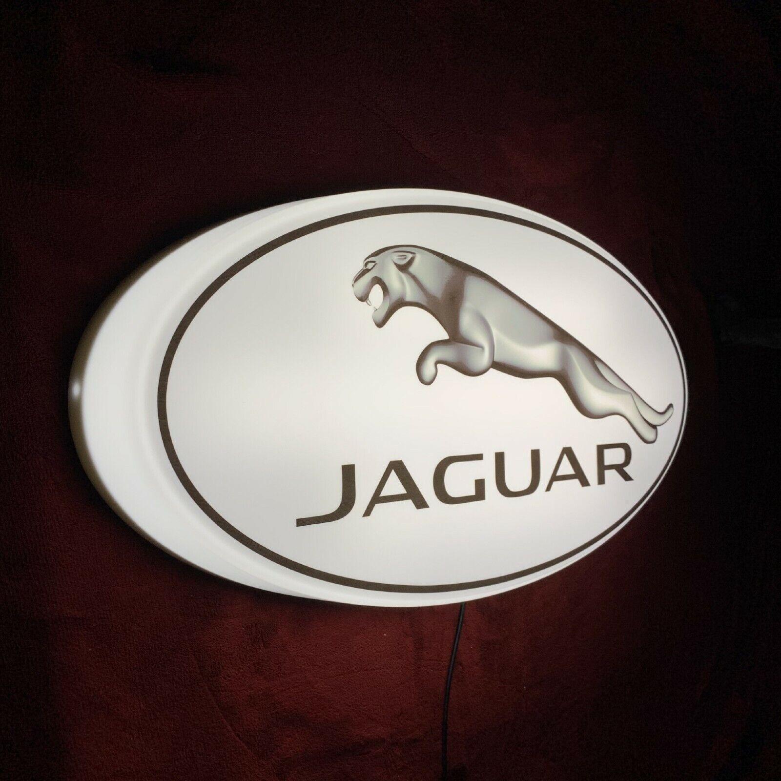 JAGUAR LED ILLUMINATED LIGHT UP GARAGE SIGN PETROL GASOLINE automobilia F TYPE