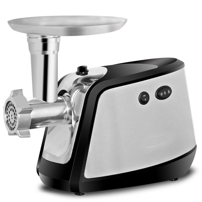 Electric Meat Grinder Kitchen Food Sausage Mincer 3 Blades 1000W Black