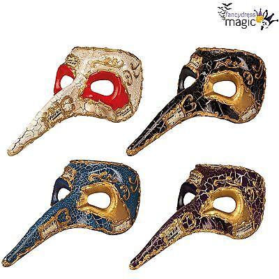 NEU Herren Venezianische Maskerade Halloween MASKENBALL lange Nase Pest Arzt