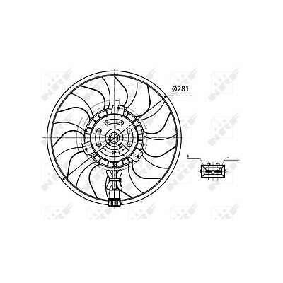 Genuine NRF Engine Cooling Radiator Fan - 47418