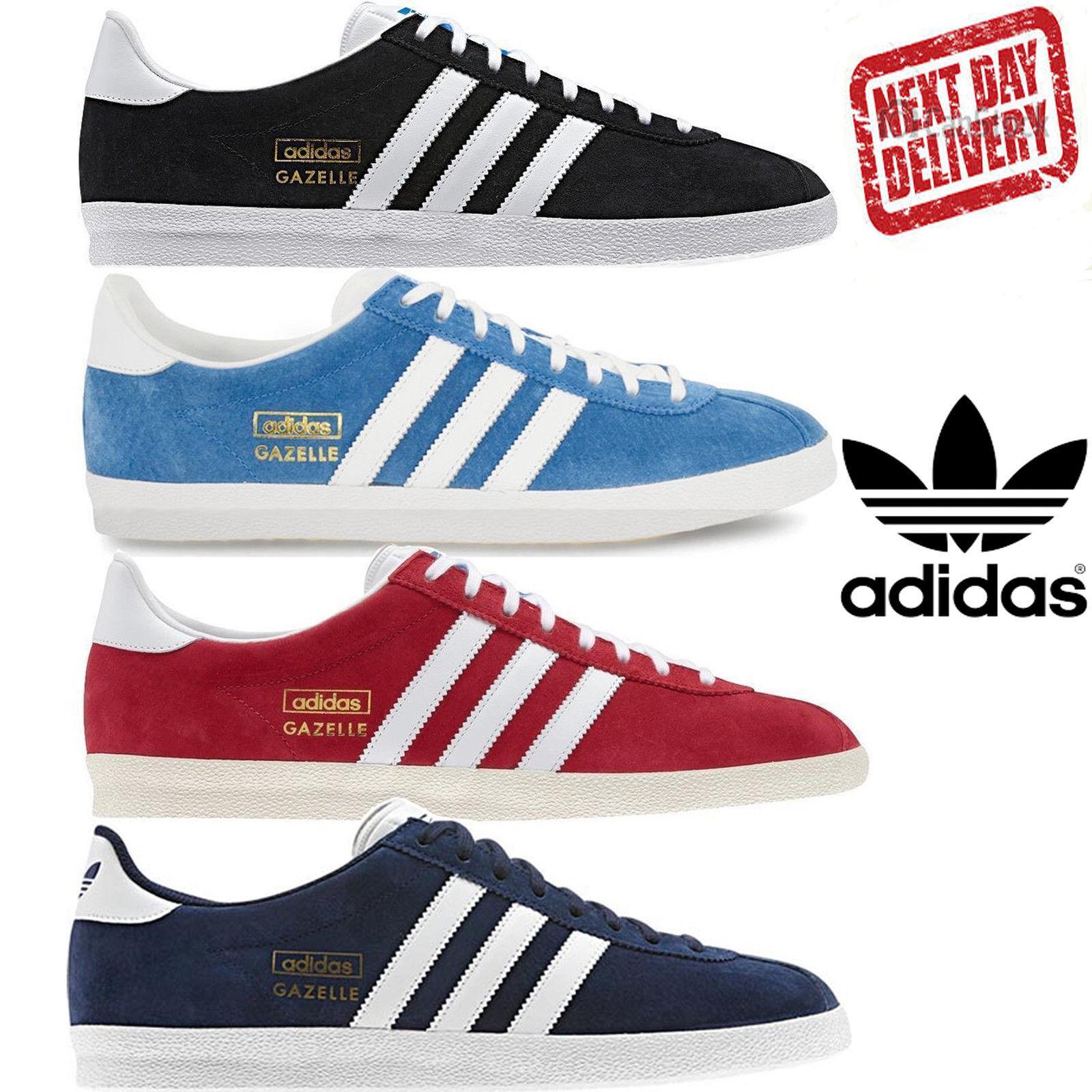 Adidas Trainers Original Gazelle Og Retro Black Blue Uk