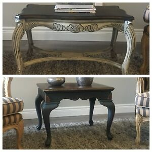 REDUCED!! Refinished Antique side tables