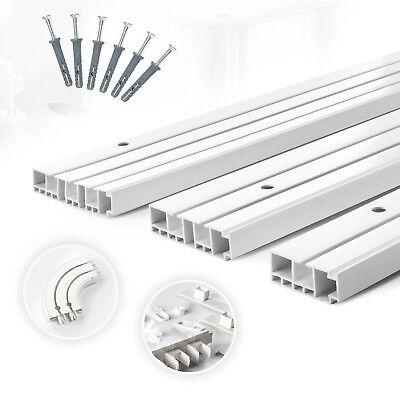 Gardinenschienen PVC 1, 2, 3 - läufig Innenlaufschienen Deckenschiene Rundbogen