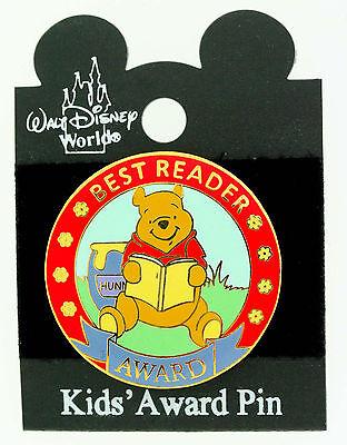 DISNEY WINNIE THE POOH   BEST READER  AWARD TAC PIN   trading pin