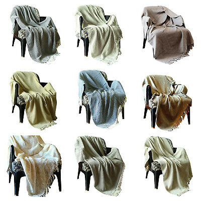 Reversible Throw Blankets For Sofa and Couch Home Decor Throws Travel -