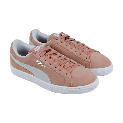 Puma Suede Classic Mens Pink Suede Low Top Lace Up Sneakers Shoes ()