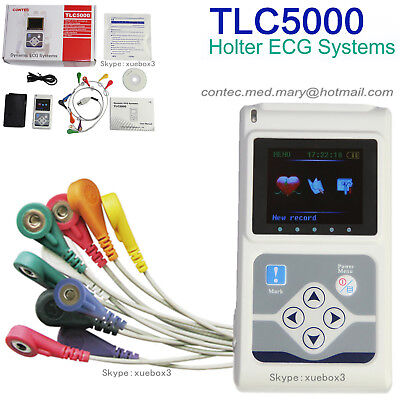 Tlc5000 Portable Dynamic Holter 12 Channel Ecg Ekg Machine Holter New Contec Fda