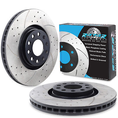 FRONT DRILLED GROOVED 320mm BRAKE DISCS FOR AUDI A4 AVANT 2.7 3.0 TDI 3.2 FSI