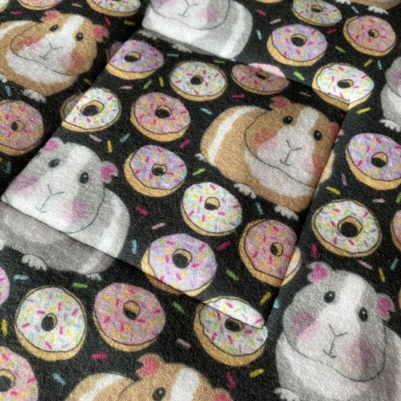 Guinea Pig Fleece Cage Liner Pad Donut Pee Reversible New