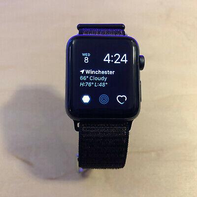 *Apple Watch Series 2 42mm Space Gray Aluminum Case GPS - Black Nylon Loop*