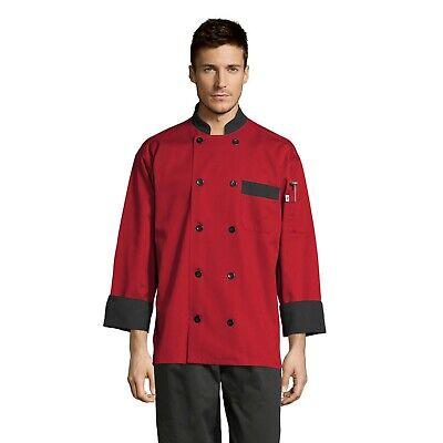 Newport Chef Coat Red Whitestoneslate Xs Through 3xl 0404