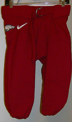 Arkansas Razorback Game (Arkansas Razorbacks Nike Game Worn Football Pants Red White  Hog Swoosh 32)