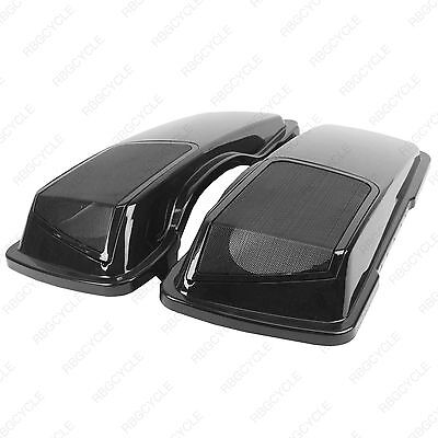 Used, Vivid Black CVO 6x9 Speaker Lids with Metal Grills for Harley Touring Saddlebags for sale  Niagara Falls