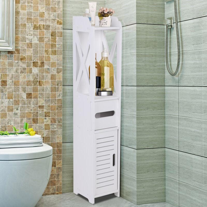 Badschrank Badezimmerschrank Hochschrank Unterschrank Badmöbel Weiß Neu