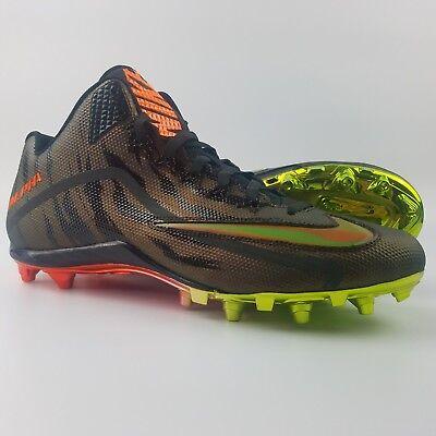 0f35a10bb038 Nike Alpha Pro 2 3/4 TD LE 2.0 Mens Size 15 Football Cleats Copper Orange  Volt