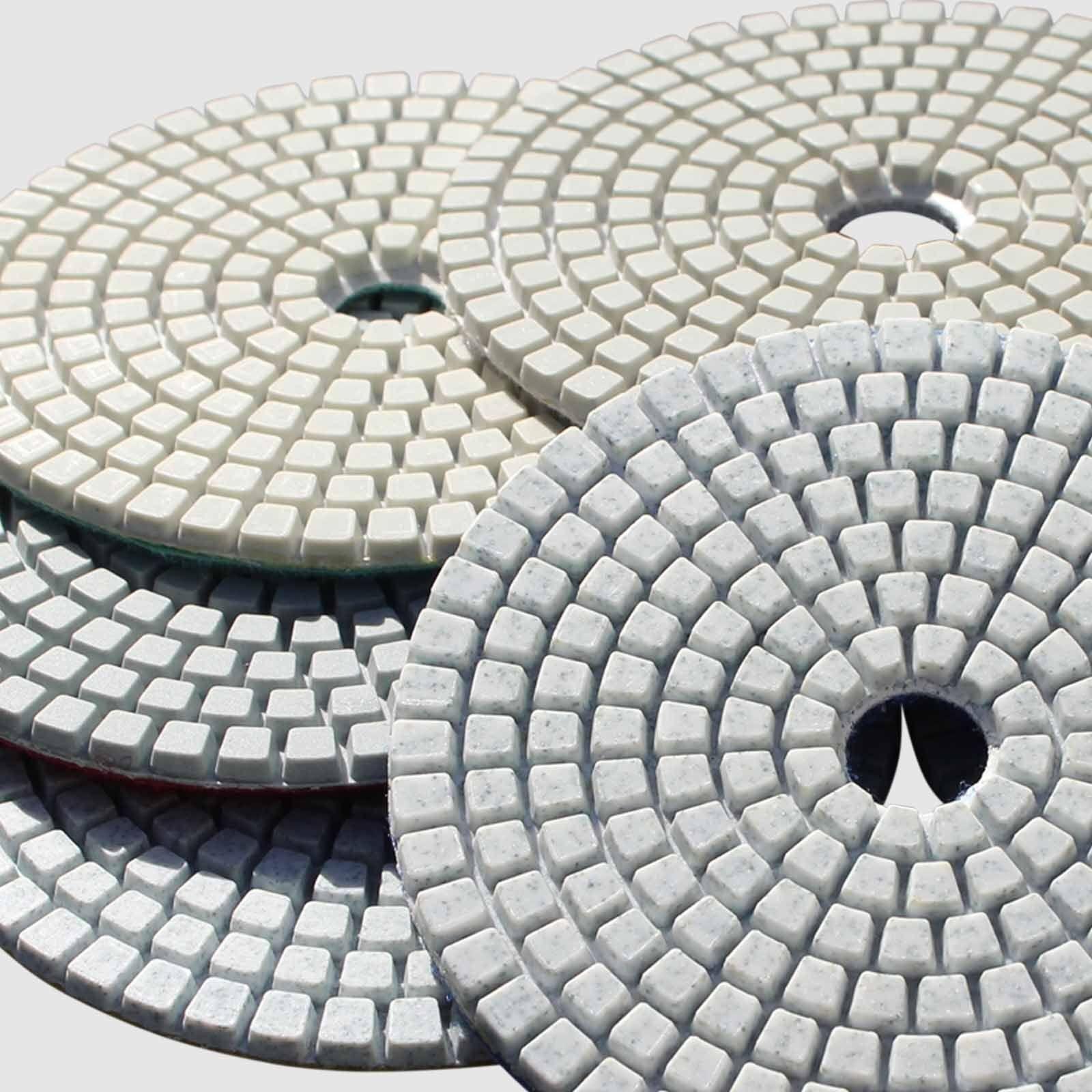 Diamond Polishing Pads WetDry Granite Concrete Marble Glass Stone Sanding Set UK
