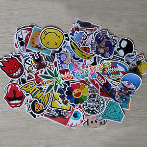 New 50pcs Skateboard Graffiti Sticker Skate Laptop Luggage Car Bomb Vinyl Decal