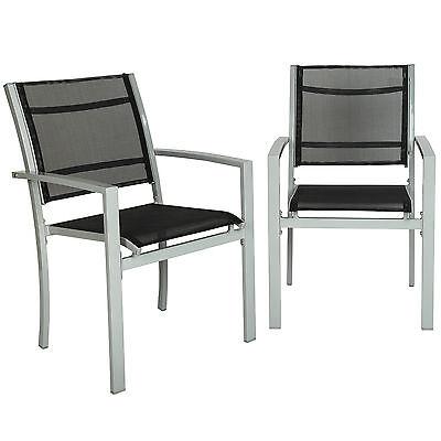 2er Set Gartenstuhl Balkonstühle Gartensessel Terrasse Metall Stuhl B-Ware