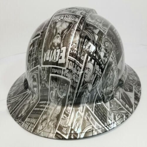 FULL BRIM Hard Hat custom hydro dipped ELVIRA BAD GIRLS OF HOLLYWOOD 3