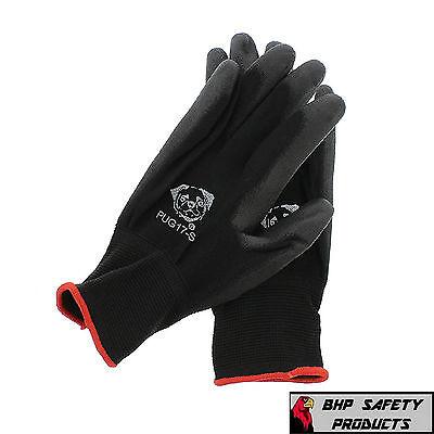 12 Pair Global Glove Pug17-s Polyurethane Coated Anti-static Work Gloves Small
