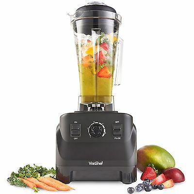VonShef 1500W High Speed Professional Food Blender Powerful Large Smoothie Maker