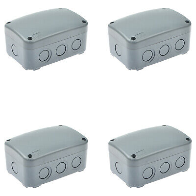 4pk Waterproof Junction Box Cable Switch Connector Enclosure Case Ip66 9-pole