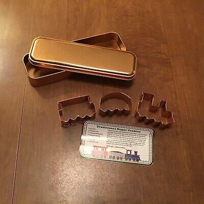 Train Cookie Cutter Set In Copper Tin Three Copper Cookie Cutters