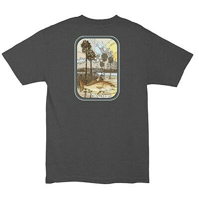 Guy Harvey Men's Redrise S/S Redfish Fishing Boat Fish T-shirt..Pick Size..CHHR