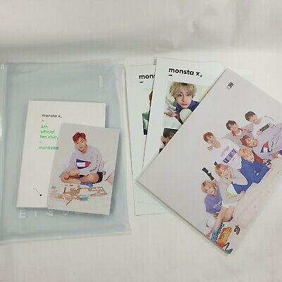 MONSTA X Official Fanclub MONBEBE 4th term Goods DVD Photobook K-POP Photo Card
