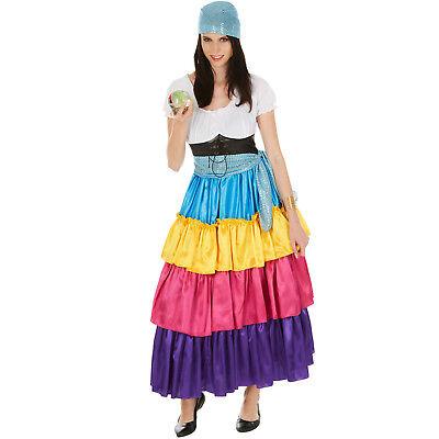 Hellseherin Wahrsagerin Kostüm Frauen Karneval Fasching Halloween Zigeuner Tuch