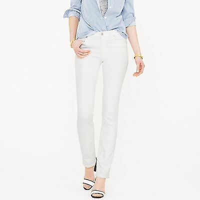 NWT J.Crew Matchstick Jean in White Size 24