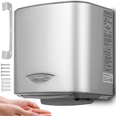 1200w High Speed Hand Dryer Automatic Infrared Sensor Commercial Stainless Steel