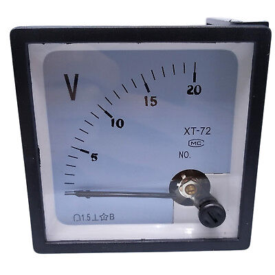 Us Stock Dc 020v Square Analog Volt Pointer Needle Panel Meter Voltmeter Xt-72