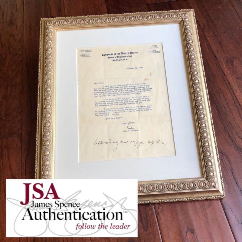 JOHN F. KENNEDY * JSA LOA * Twice 2x Signed Letter With Handwritten Postscript