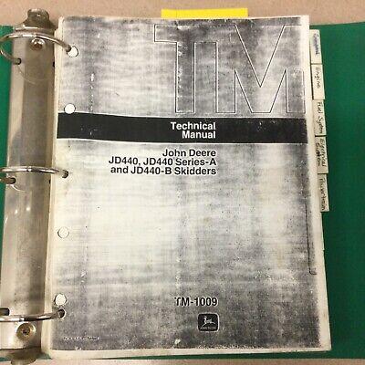 John Deere Jd 440ab Technical Service Repair Manual Log Skidder Guide Tm1009