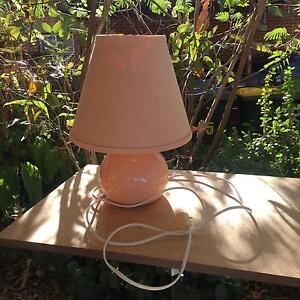 Old pale pink lamp Eden Hills Mitcham Area Preview