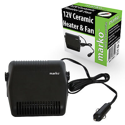 DC 12V CAR FAN HEATER PORTABLE CERAMIC CIGARETTE LIGHTER DEFROSTER DEMISTER