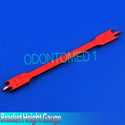 Red 022 Dental Bracket Positioning Height Gauges Orthodontic Instruments