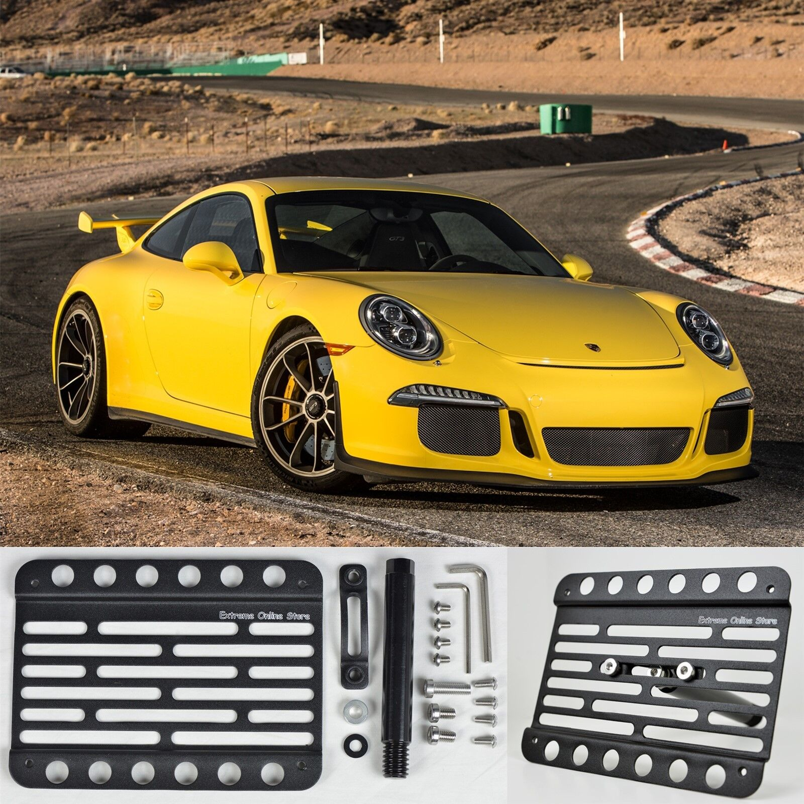 EOS For 14-Up Carrera 911 GT2 Turbo with PDC Tow Hook License Plate Bracket