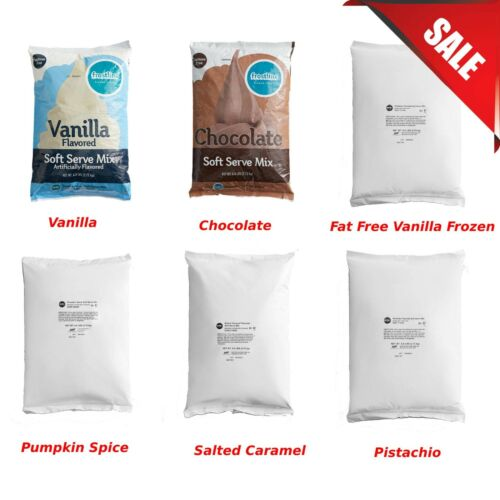 (6-Case) 6 lb. DIFFERENT FLAVORS Frostline Soft Serve Ice Cream Mix Gluten Free