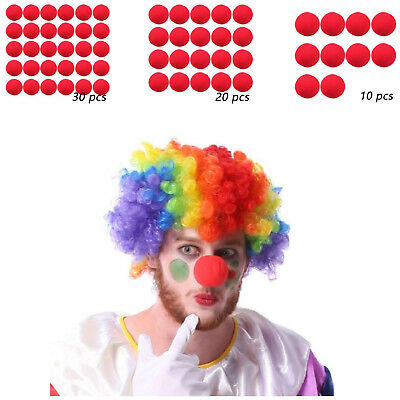 Carnival Costume Supplies (Clowns Nose New Soft Foam Red Color For Circus Halloween Costume Party)