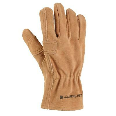 Carhartt Mens Leather Fencer Work Glove Brown Large