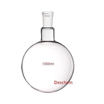Deschem One neck,1000ml,24/40,Round Bottom Glass Flask,1L,1-neck,Lab - Round Flask