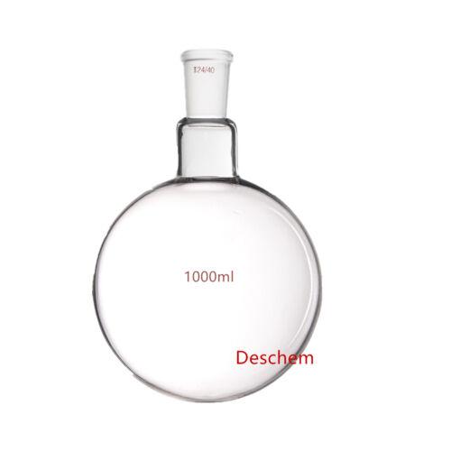 Deschem One neck,1000ml,24/40,Round Bottom Glass Flask,1L,1-neck,Lab Bottle
