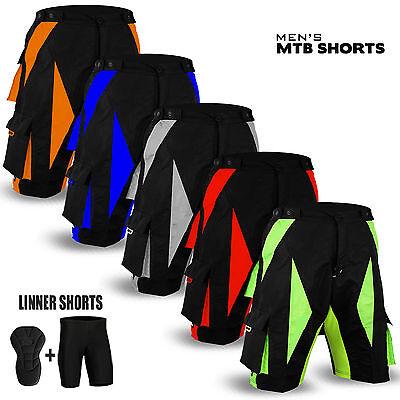 Cycle Liner Shorts (NEW Cycling MTB Short Off Road Cycle Bicyle Coolmax Padded Liner Shorts )