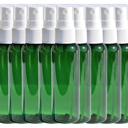 50x 2oz Plastic Spray Bottles Bulk Green White Fine Mist Sprayer w/ Clear Cap